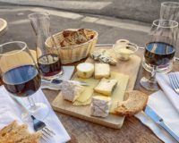 Cheese pairings offered for Wine Club Members on bottle pick up days